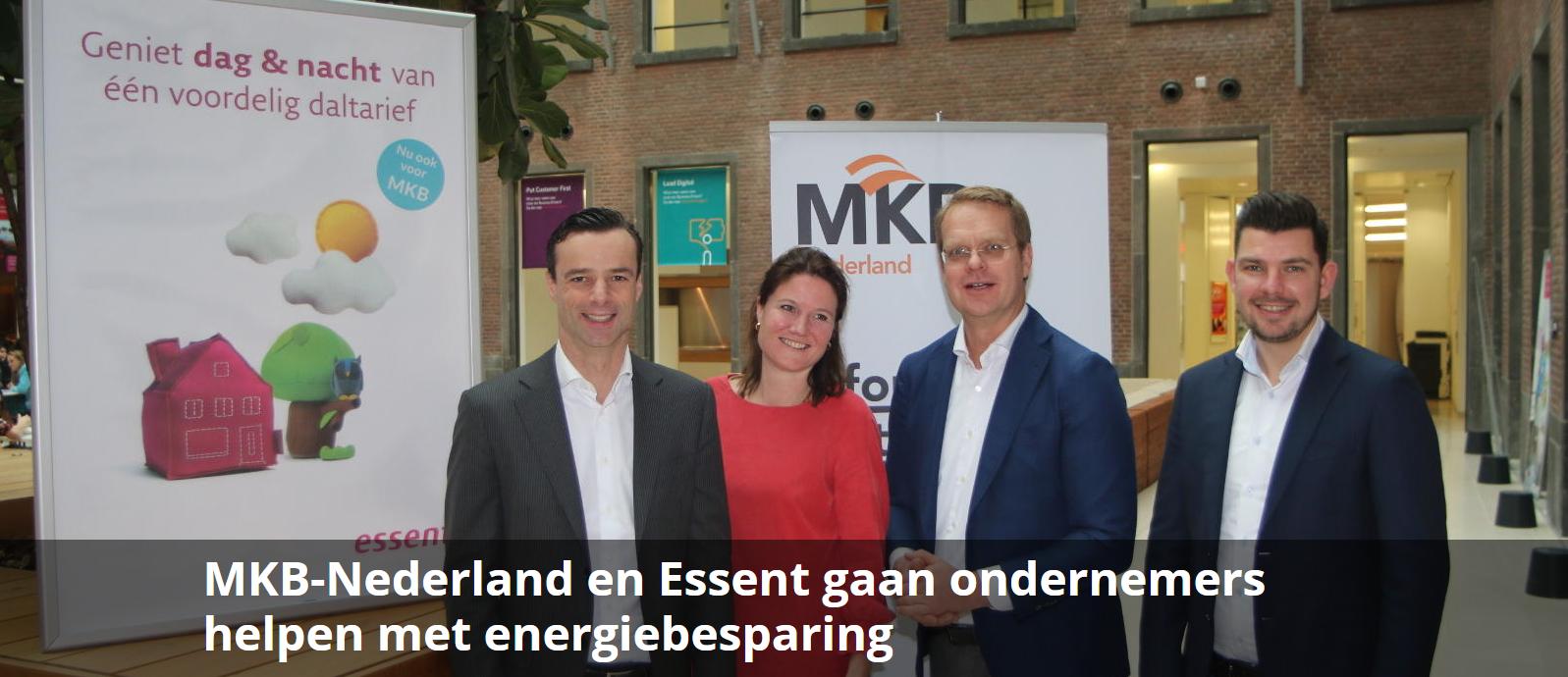 MKB-Nederland en Essent gaan ondernemers helpen met energiebeparing